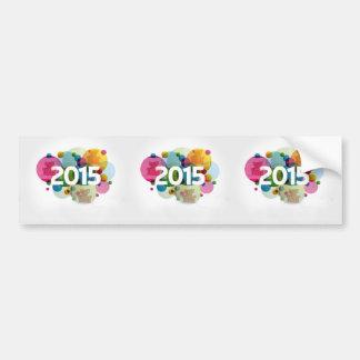 Neues Jahr-Bild 2015 Autoaufkleber
