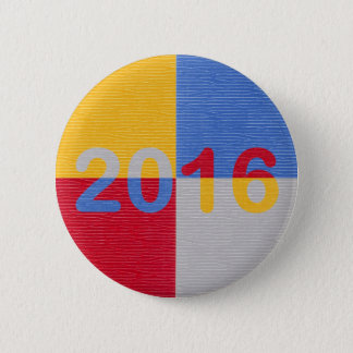 Neues Jahr-Bild 2016 Runder Button 5,1 Cm