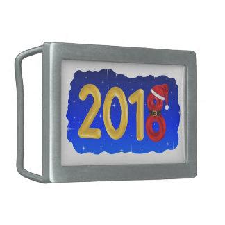 Neues Jahr-Cartoon 2018 Rechteckige Gürtelschnallen