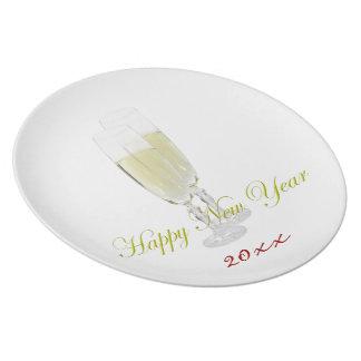 Neues Jahr geriffelt Platten-Schablone Essteller