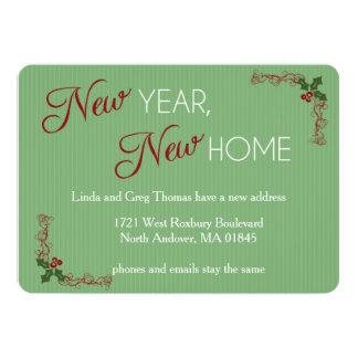 Neues Jahr, neues Zuhause-Weihnachtsbewegliche Karte