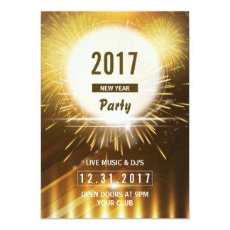 Neues Jahr-Party-Flyer   2017 NYE Eve Karte 12,7 X 17,8 Cm Einladungskarte
