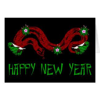 Neues Jahr-Schlange Karte