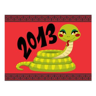Neues Jahr-Schlange Postkarte