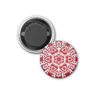 Neues Jahr-Schneeflocke Runder Magnet 3,2 Cm
