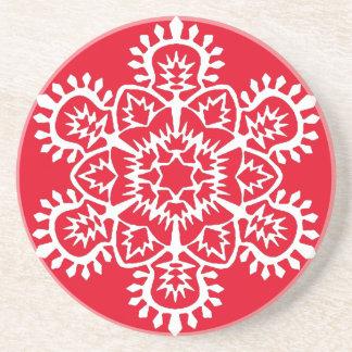 Neues Jahr-Schneeflocke Sandstein Untersetzer