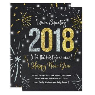 Neues Jahr-Schwangerschafts-Mitteilungs-neues Jahr Karte