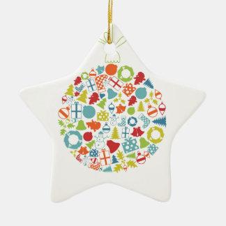 Neues Jahr sphere2 Keramik Stern-Ornament