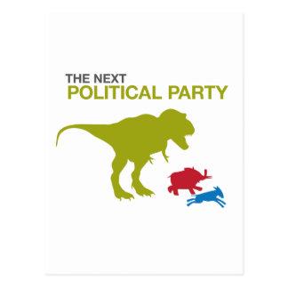 Neues politisches Party Postkarte