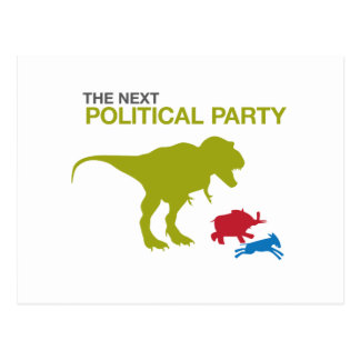 Neues politisches Party Postkarten