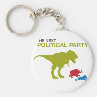 Neues politisches Party Standard Runder Schlüsselanhänger