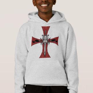 Neues Templar Kreuz Hoodie