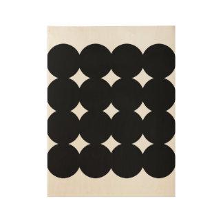Neues Vintages Plakat im Geschäft: mit Kreisen Holzposter