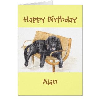 Neufundland-Hundealles Gute zum Geburtstag Karte