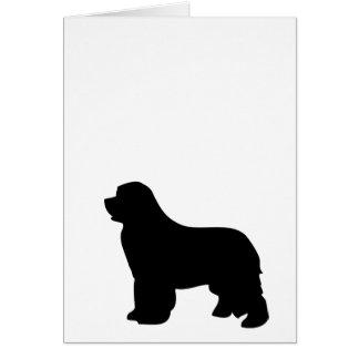 Neufundland-Hundegrußkarte, schwarze Silhouette Karte