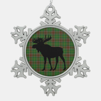 Neufundland   Tartanelch-Schneeflockeverzierung Schneeflocken Zinn-Ornament