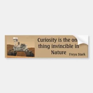 Neugier-Mars-Vagabund unbesiegbarer die Autoaufkleber