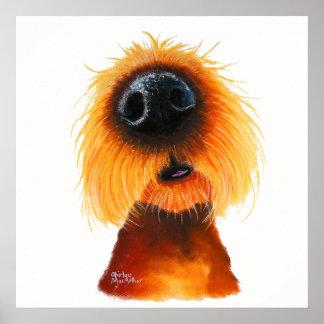 """Neugieriger Hund """"GERUCHE mögen Sonnenschein"""" Poster"""