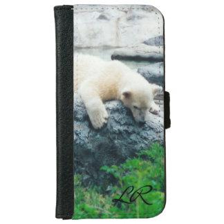 Neugieriges Eisbärjunges iPone oder Galaxie Geldbeutel Hülle Für Das iPhone 6/6s