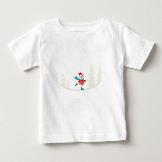 Neuheits-Sankt-Ren-Schneemann Baby T-shirt