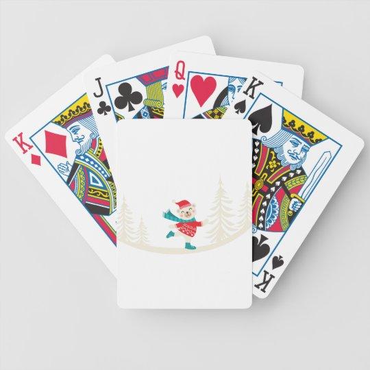 Neuheits-Sankt-Ren-Schneemann Bicycle Spielkarten