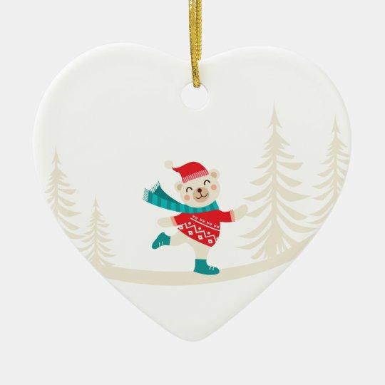 Neuheits-Sankt-Ren-Schneemann Keramik Herz-Ornament