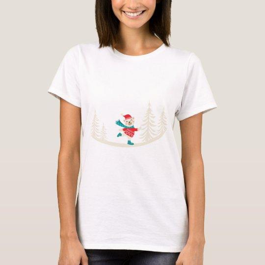 Neuheits-Sankt-Ren-Schneemann T-Shirt
