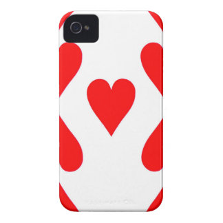 Neun der Herz-Spielkarte iPhone 4 Cover