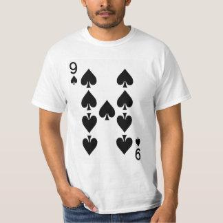 Neun der Spaten-Spielkarte T-Shirt