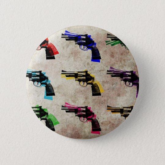 Neun Revolver Runder Button 5,7 Cm