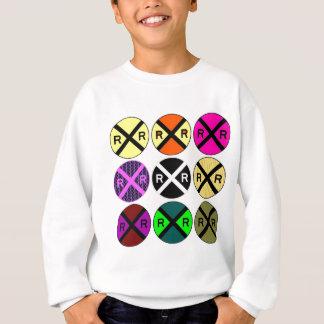 Neun Zeichen farbige Bahnübergänge Sweatshirt