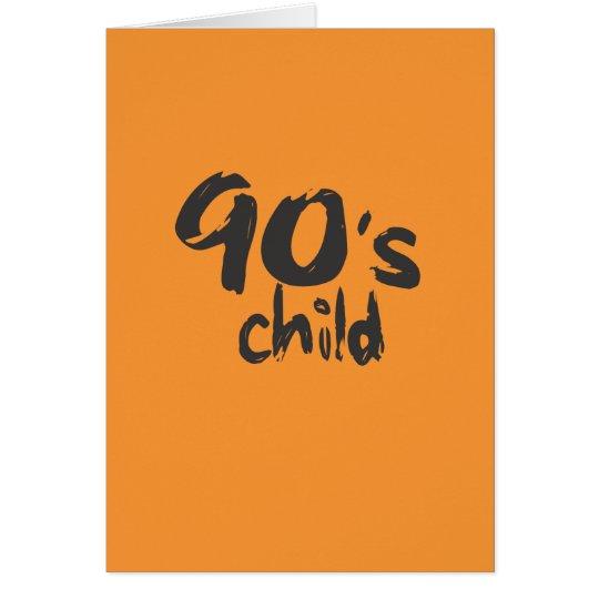 Neunzigerjahre Kindalters-Karte Grußkarte