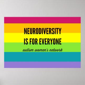 Neurodiversity ist für jeder Plakat (Regenbogen)