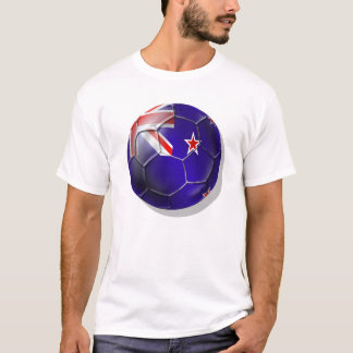 Neuseeland aller Weißkiwi-Flagge Ball T-Shirt