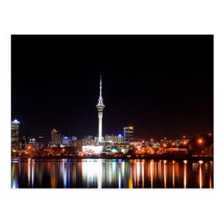 Neuseeland: Auckland nachts Postkarte