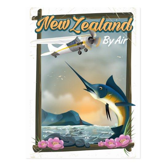 Neuseeland-Fischenreiseplakat Postkarte