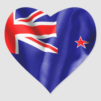 Neuseeland-Flagge Herz-Aufkleber