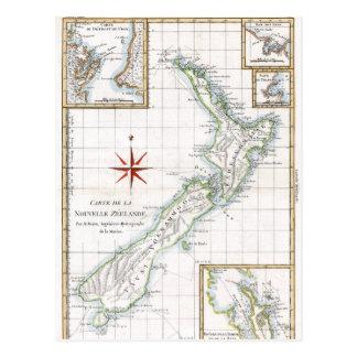Neuseeland-Karte 1787 Postkarte