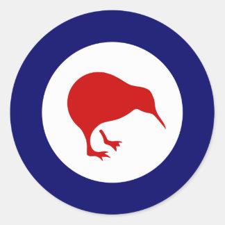 Neuseeland-Kiwi roundel Militärluftfahrtaufkleber Runder Aufkleber
