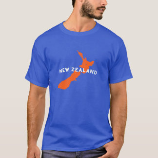 Neuseeland-Land-Silhouette T-Shirt