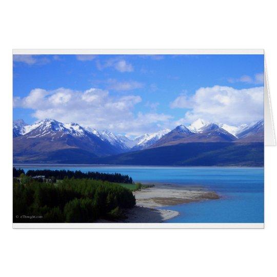 Neuseeland-Landschaft Karte