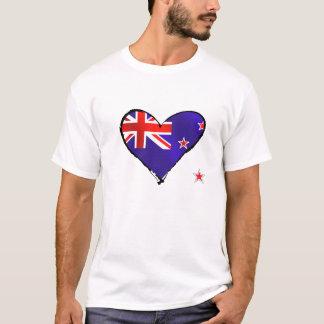 Neuseeland-Liebeherz-Flaggengeschenke T-Shirt