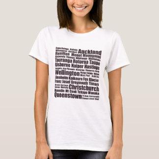 Neuseeland-Städte T-Shirt