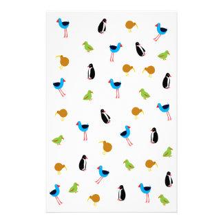 Neuseeland-Vögel Briefpapier