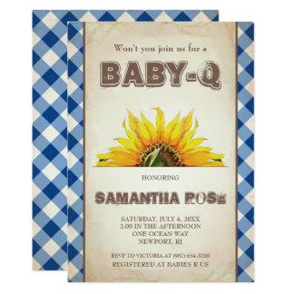 Neutrale BabyQ Baby-Dusche, GRILLEN Baby Q lädt 12,7 X 17,8 Cm Einladungskarte