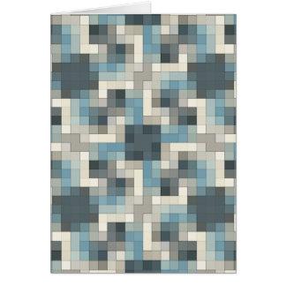 Neutrale Person färbt Mosaik Karte