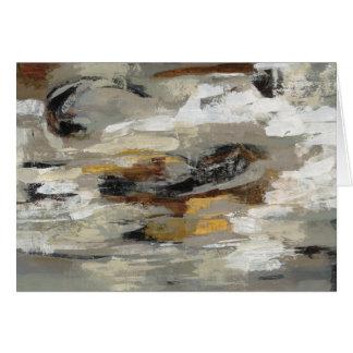 Neutraler abstrakter grauer Druck | Silvia Karte