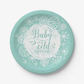 """Neutrales Baby ist es kalte Außenseite 7"""" Pappteller"""