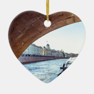 Neva Fluss-Kreuzfahrt Keramik Herz-Ornament