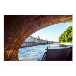 Neva Fluss-Kreuzfahrt Postkarte